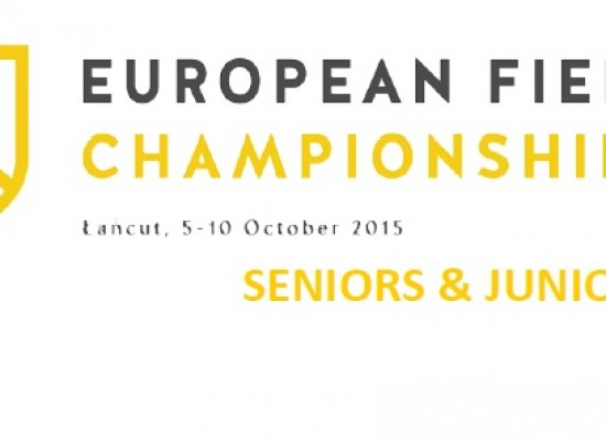 European Archery Field Championships 2015, 5 th – 10 th October in Rzeszow, Poland.