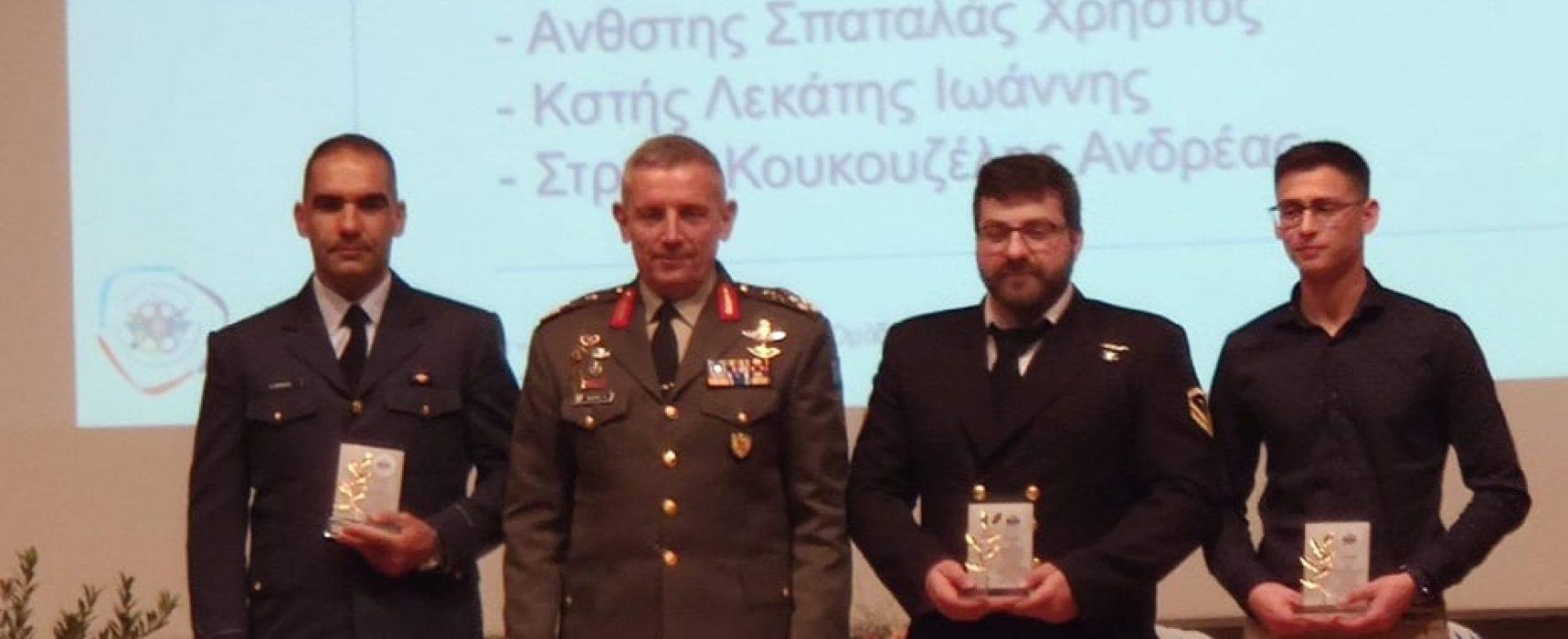 Βραβεύσεις για τις επιτυχίες της Ελλάδας στο 1ο Ευρωπαϊκό Στρατιωτικό Πρωτάθλημα τοξοβολίας