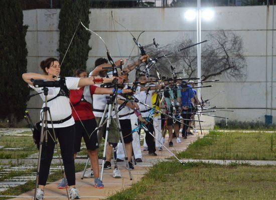 Για πρώτη φορά βραδινός αγώνας με προβολείς στο  Ολυμπιακό Προπονητήριο Τοξοβολίας