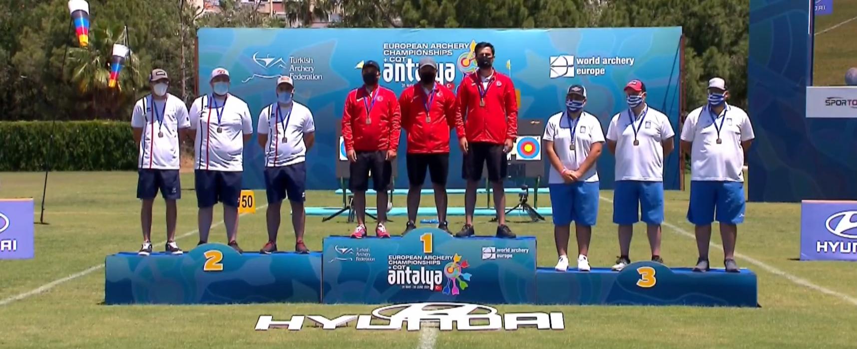 Η Εθνική Ομάδα Σύνθετου Τόξου Ανδρών κατέκτησε το χάλκινο μετάλλιο στους Πανευρωπαϊκούς Αγώνες Τοξοβολίας στην Αττάλεια της Τουρκίας